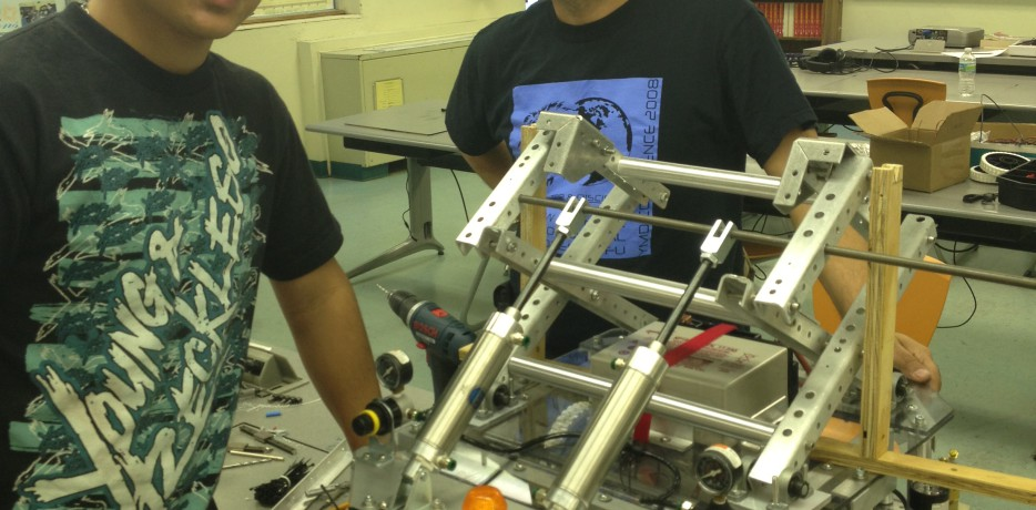 Robot with Rob and student